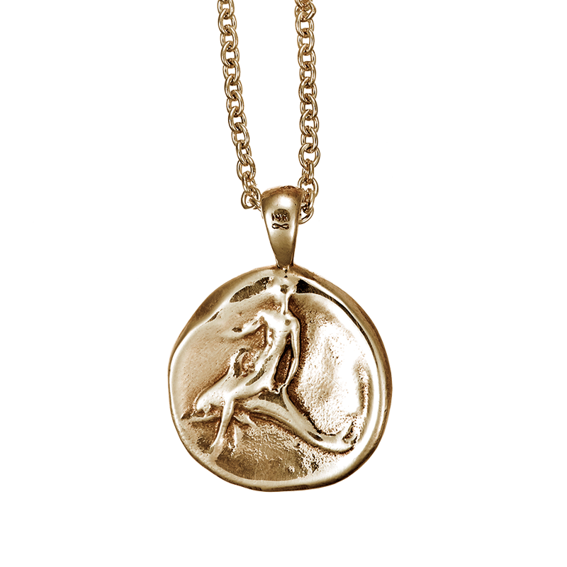 Dolphin Coin Pendant Rose Gold Dolphin Project