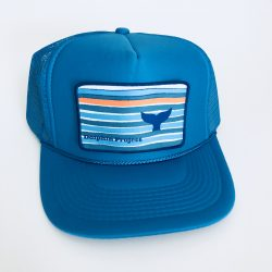 Dolphin Project Turquoise Foam Trucker Hat with Whale Fluke Patch