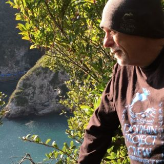 Ric O'Barry on the ground in Taiji, Japan