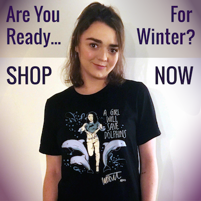 Maisie Williams Dolphin Project Charity Tee