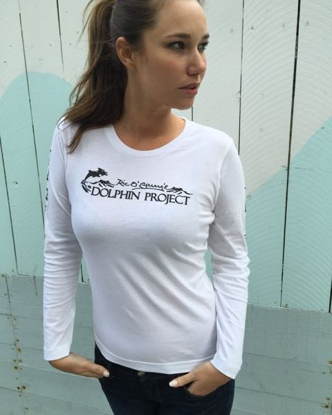 Women's Long Sleeve Dolphin Project Logo Tee