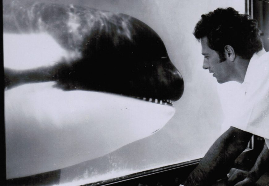 Ric O'Barry with Hugo, Miami Seaquarium