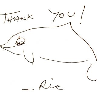 Ric O'Barry handwritten thank you