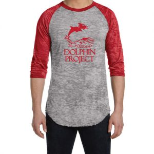 Men s White Long Sleeve Dolphin Project Logo Tee  98594ff0f