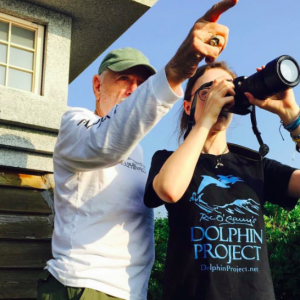 Ric O'Barry Dolphin Project Cove Monitors at The Cove