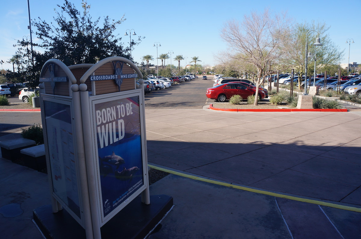 Anti-captivity billboards on display at Scottsdale malls.