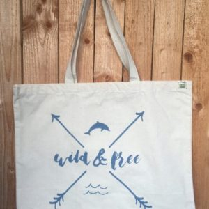 Wild ad Free Tote Bag Charity Dolphin Project