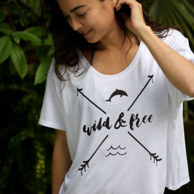 Wild & Free Women's  Dolphin Tee