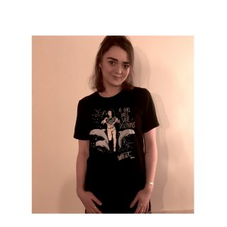 """Maisie Williams """"A Girl Will Save Dolphins"""" t-shirt"""