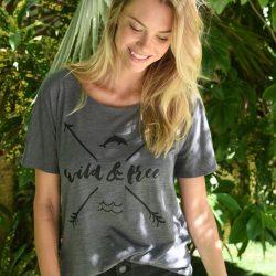 85ae6c8671f7d Unisex Eco Royal Swim Free T-Shirt Hoodie  46.00. Women s ...