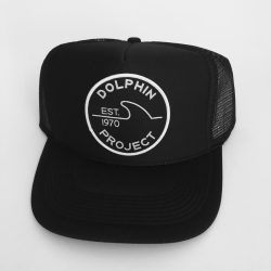 Dolphin Project Black Foam Trucker Hat with 1970 Patch