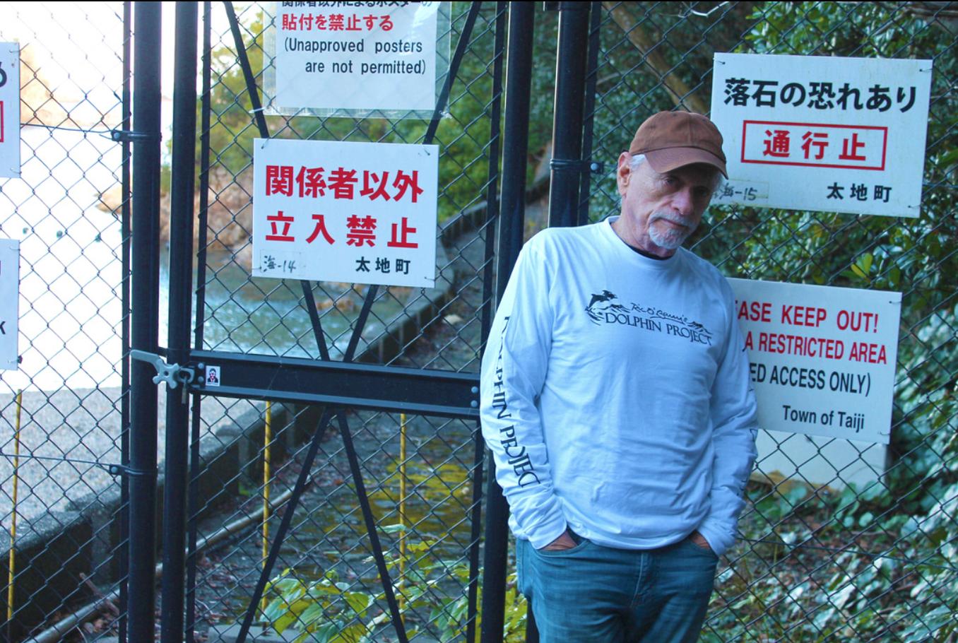 Ric O'Barry at the Cove, Taiji, Japan
