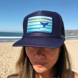 Navy Hat Whale Fluke 1