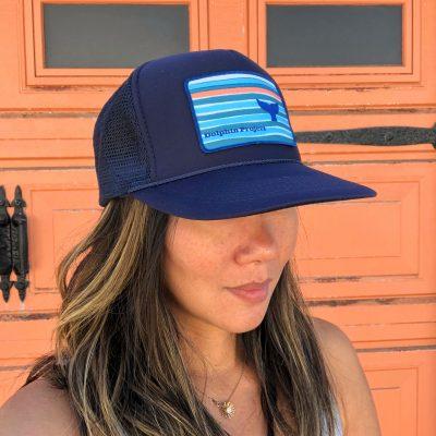 Navy Hat Whale Fluke 2