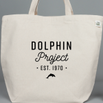 Dolphin Project est. 1970 eco-friendly tote