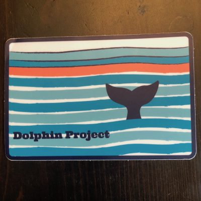 Dolphin Project Whale Fluke Decal