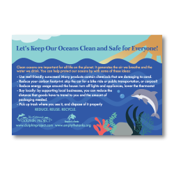 Ocean Clean Up Postcards Back