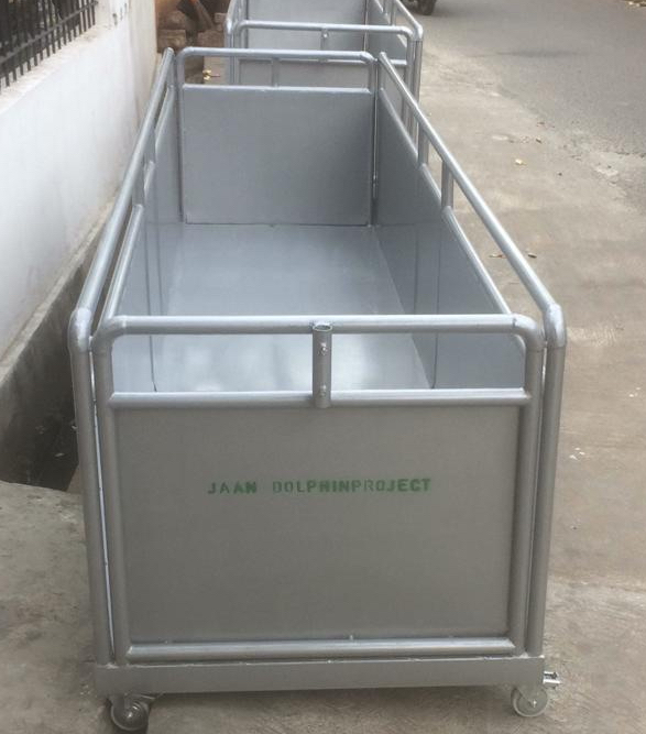 Transport box used to evacuate dolphins, Bali, Indonesia