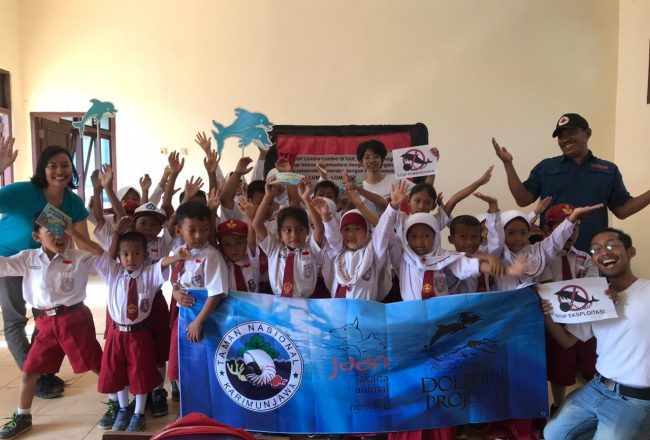 Protection starts with education! Students learn the importance of protecting marine life though play and education, Bali, Indonesia.