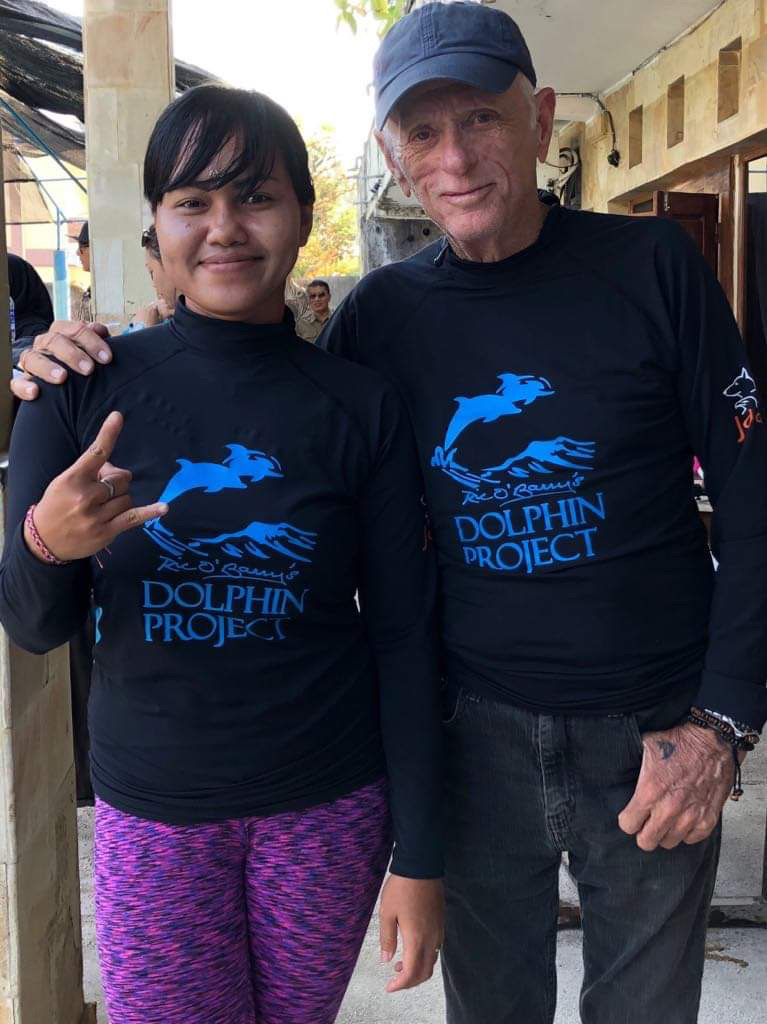 Wahyu is former Melka Hotel head dolphin trainer. She is now a Dolphin Project employee at the sanctuary.
