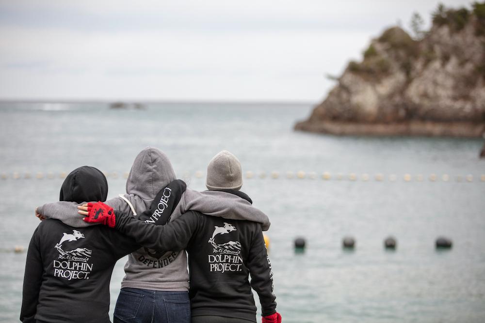 Dolphin Project Cove Monitors at the Cove, Taiji, Japan