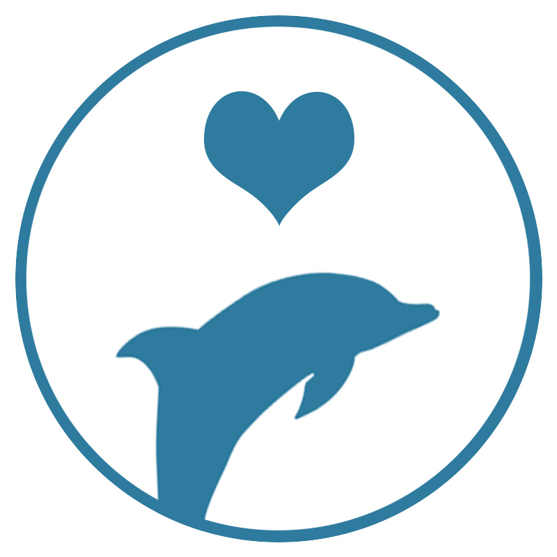 dolphin donate heart icon